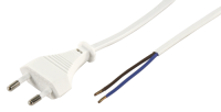 Euro-Netzkabel McPower mit blanken Enden Länge 1,5...