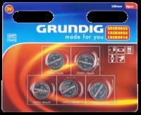 Knopfzellen-Sortiment GRUNDIG, 3.0V, Lithium, 5-teilig