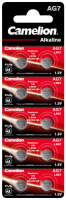 Knopfzelle CAMELION, AG7, 1,5V, Alkaline, 10er-Blister