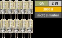 LED-Stiftsockellampe McShine Silicia, G4, 2W, 160lm,...