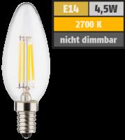 LED Filament Kerzenlampe, E14, 4,5W, 470lm, 2700K,...