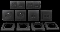 Schalter und Steckdosen Set McPower Flair Multimedia...