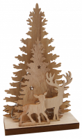 LED-Dekolicht Weihnachtsbaum aus Holz, 10 LEDs, 44cm