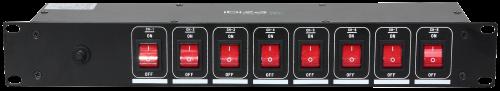 Stromverteiler IBIZA LC806S 19,  2HE, 8-fach, 3000W, für z.B. Lichtanlagen
