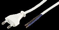 Euro-Netzkabel McPower mit blanken Enden Länge 5,0...