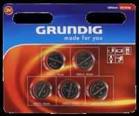 Knopfzelle GRUNDIG CR2016, 3,0V, Lithium, 5er-Blister