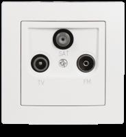 Antennendose McPower Flair für TV, Radio und Sat,...