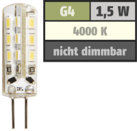 LED-Stiftsockellampe McShine Silicia, G4, 1,5W, 120 lm,...