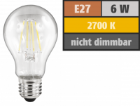 LED Filament Glühlampe McShine Filed, E27, 6W, 630...