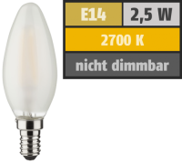 LED Filament Kerzenlampe, E14, 2,5W, 250lm, 2700K,...