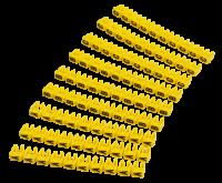Kabelmarker-Clips McPower, bedruckt mit Buchstaben,...