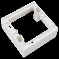 Aufputz-Rahmen McPower Flair 80x80x45mm, mit Montagebohrung
