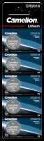Knopfzelle CAMELION CR2016 3,0V, Lithium, 5er-Blister