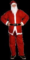 Weihnachtsmann-Anzug, 5-teilig