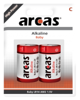 Baby-Batterie Alkaline 1,5V, Typ C/LR14, 2er-Pack