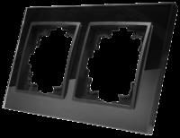 Glas-Rahmen McPower Flair, 2-fach, schwarz