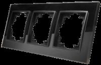 Glas-Rahmen McPower Flair, 3-fach, schwarz