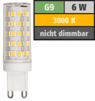 LED-Stiftsockellampe McShine, G9, 6W, 720lm, 3000K,...