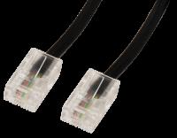 ISDN-Anschlusskabel, 8P4C-8P4C, 1:1, 2x RJ45-Stecker, 3m