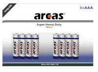Micro-Batterie Super Heavy Duty 1,5V, Typ AAA/R03, 8er-Pack