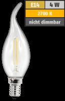 LED Filament Kerzenlampe Windstoß McShine, E14, 4W,...