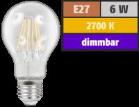 LED Filament Glühlampe McShine Filed, E27, 6W, 600...
