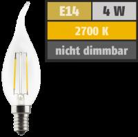 LED Filament Kerzenlampe Windstoß, E14, 4W, 470lm,...