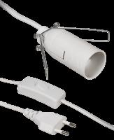 Euro-Netzkabel McPower mit Schnurschalter und E14...