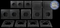 Schalter und Steckdosen Set McPower Flair Standard Profi...