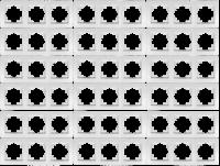 Rahmen McPower Flair, 3-fach, weiß, 18er-Pack