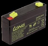 Bleiakku KUNG LONG WP1.2-6 6V/1,2Ah, 97x25x52mm, 0,3kg