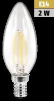 LED Filament Kerzenlampe McShine Filed, E14, 2W, 200 lm,...