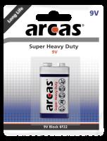 Block-Batterie Super Heavy Duty 9V, Typ 6F22, 1er-Blister