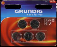 Knopfzelle GRUNDIG CR2430, 3,0V, Lithium, 5er-Blister