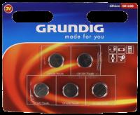Knopfzelle GRUNDIG CR1620, 3,0V, Lithium, 5er-Blister