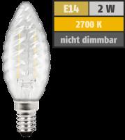 LED Filament Kerzenlampe gedreht McShine Filed, E14, 2W,...