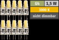 LED-Stiftsockellampe McShine Silicia COB, G4, 1,5W,...