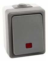 Feuchtraum Kontroll-Schalter McPower Secure, 250V~/10A,...