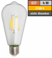 LED Filament Glühlampe McShine Filed E27, ST64, 4W,...