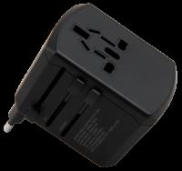 Reiseadapter McPower, für 150 Länder, 3x USB...