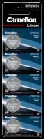 Knopfzelle CAMELION CR2025, 3,0V, Lithium, 5er-Blister