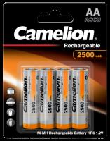 Mignon-Akku CAMELION 1,2 V, 2500 mAh, Typ AA, NiMH, 4er...