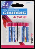 Mignon-Batterie GRUNDIG Alkaline, 1,5V, Typ AA/LR6,...