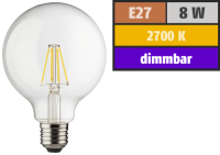 LED Filament Globelampe, E27, 8W, 1055lm, 2700K,...