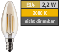 LED Filament Kerzenlampe, E14, 2,2W, 150lm, 2000K,...