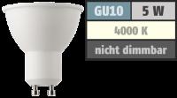 LED-Strahler GU10, 5W, 345lm, 4000K, neutralweiß