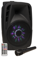 Mobile Beschallungsanlage HOLLYWOOD MB-8 LED 300W,...