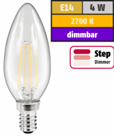 LED Filament Kerzenlampe McShine Filed, E14, 4W, 440lm,...