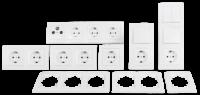 Schalter und Steckdosen Set McPower Flair Komfort,...