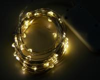 LED Draht-Lichterkette McShine Micro 50 LEDs,...